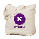 Personalize Your name and Initial Tote Bag