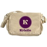 Personalize Your name and Initial Messenger Bag