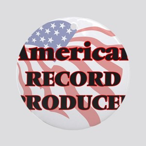 American Record Producer Round Ornament
