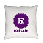 Personalize Your name and Initial Everyday Pillow