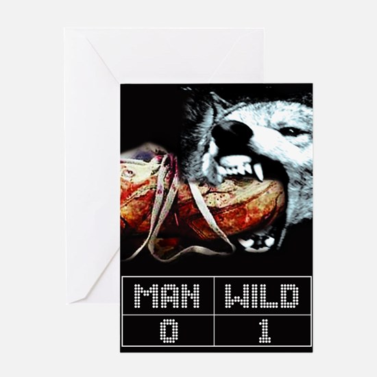 Man vs. Wild Greeting Card