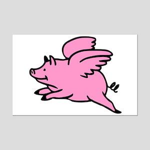 Flying Pig Mini Poster Print