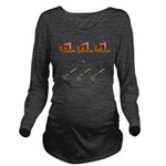 Boats and Hoes Long Sleeve Maternity T-Shirt