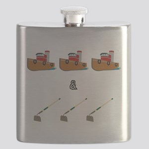 Boats and Hoes Flask