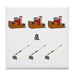 Boats and Hoes Tile Coaster