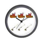 Boats and Hoes Wall Clock