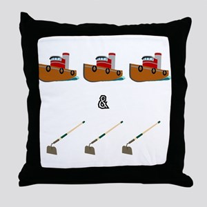 Boats and Hoes Throw Pillow