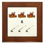 Boats and Hoes Framed Tile