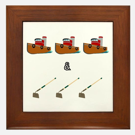 Boats and Hoes Framed Tile