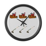 Boats and Hoes Large Wall Clock