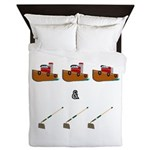 Boats and Hoes Queen Duvet