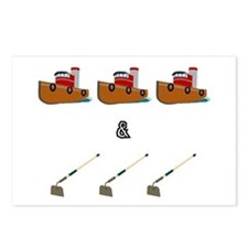 Boats and Hoes Postcards (Package of 8)