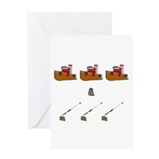 Boats and Hoes Greeting Cards