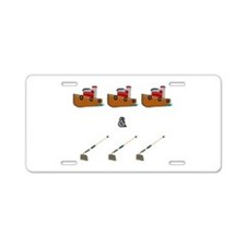 Boats and Hoes Aluminum License Plate
