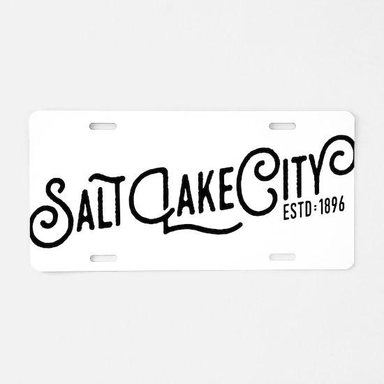 Salt Lake City Aluminum License Plate