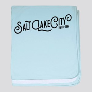Salt Lake City baby blanket