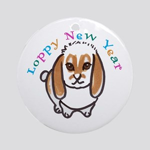 Loppy New Year Round Ornament