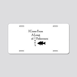 Fishing Line Aluminum License Plate