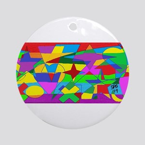 READ BETWEEN THE LINES GAY RAINBOW Round Ornament