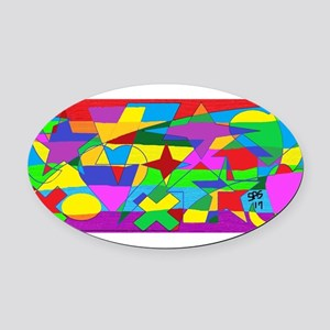 READ BETWEEN THE LINES GAY RAINBOW Oval Car Magnet