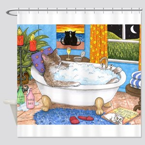 cat 567 Shower Curtain