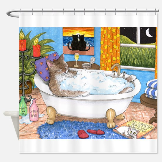 cat 567 Shower Curtain
