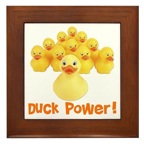 Duck Power! Framed Tile