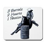 3 Barrels 2 hearts 1 passion. Mousepad