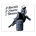 3 Barrels 2 hearts 1 passion. Small Poster