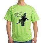 3 Barrels 2 hearts 1 passion. Green T-Shirt
