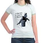 3 Barrels 2 hearts 1 passion. Jr. Ringer T-Shirt