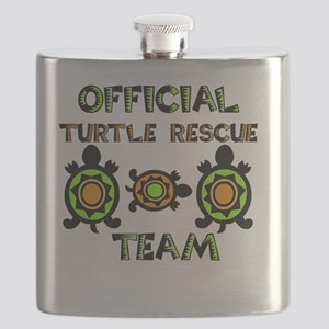 Official Turtle Rescue Team 1 Flask