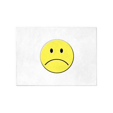Yellow Sad Face Emoji 5 X7 Area Rug By Admin Cp41547602