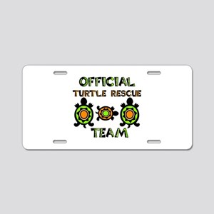 Official Turtle Rescue Team Aluminum License Plate