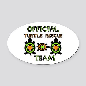 Official Turtle Rescue Team 1.png Oval Car Magnet