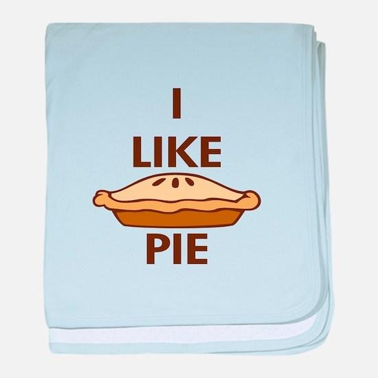 I Like Pie.png baby blanket