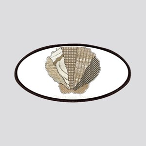 Customizable Scallop Seashell Fabric Collage Patch