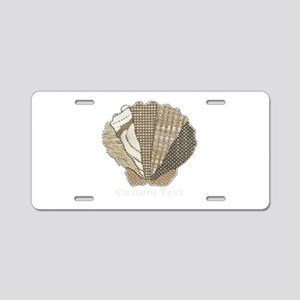 Customizable Scallop Seashell Fabric Collage Alumi