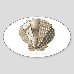 Customizable Scallop Seashell Fabric Collage Stick
