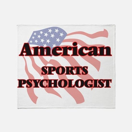 American Sports Psychologist Throw Blanket