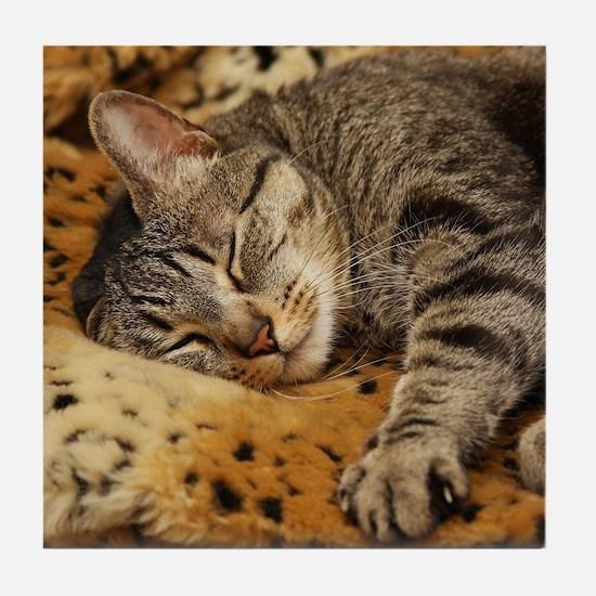 Sleeping Bud Tile Coaster