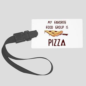 My Favorite Food Large Luggage Tag