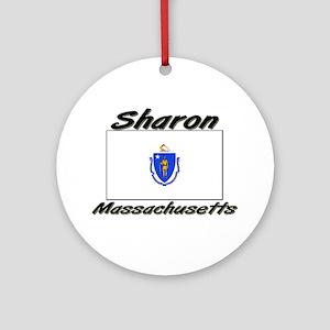Sharon Massachusetts Ornament (Round)