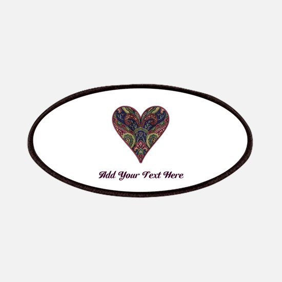 Fabric Tapestry Heart (Personalizable) Patch