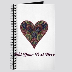 Fabric Tapestry Heart (Personalizable) Journal