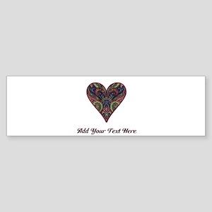 Fabric Tapestry Heart (Personalizable) Sticker (Bu