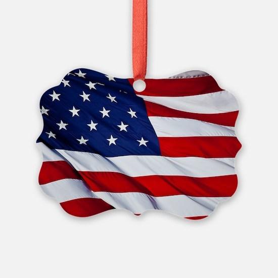 Cute American flag Ornament