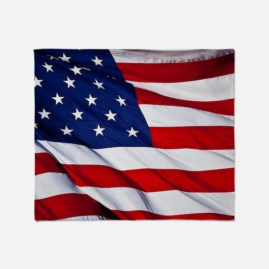 Unique American flag Throw Blanket