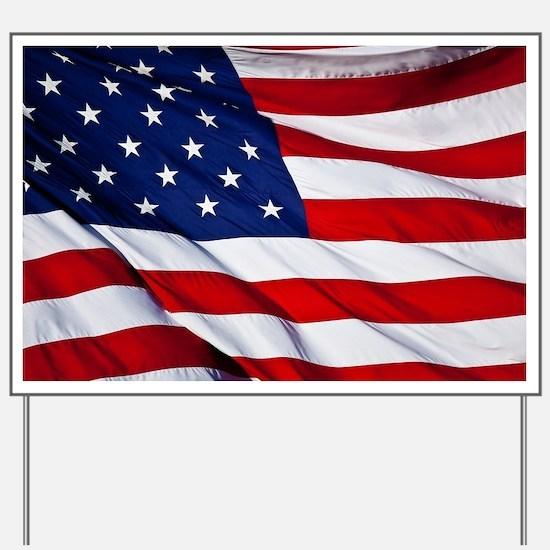 Cute American flag Yard Sign