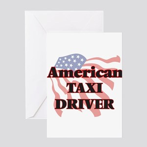 American Taxi Driver Greeting Cards